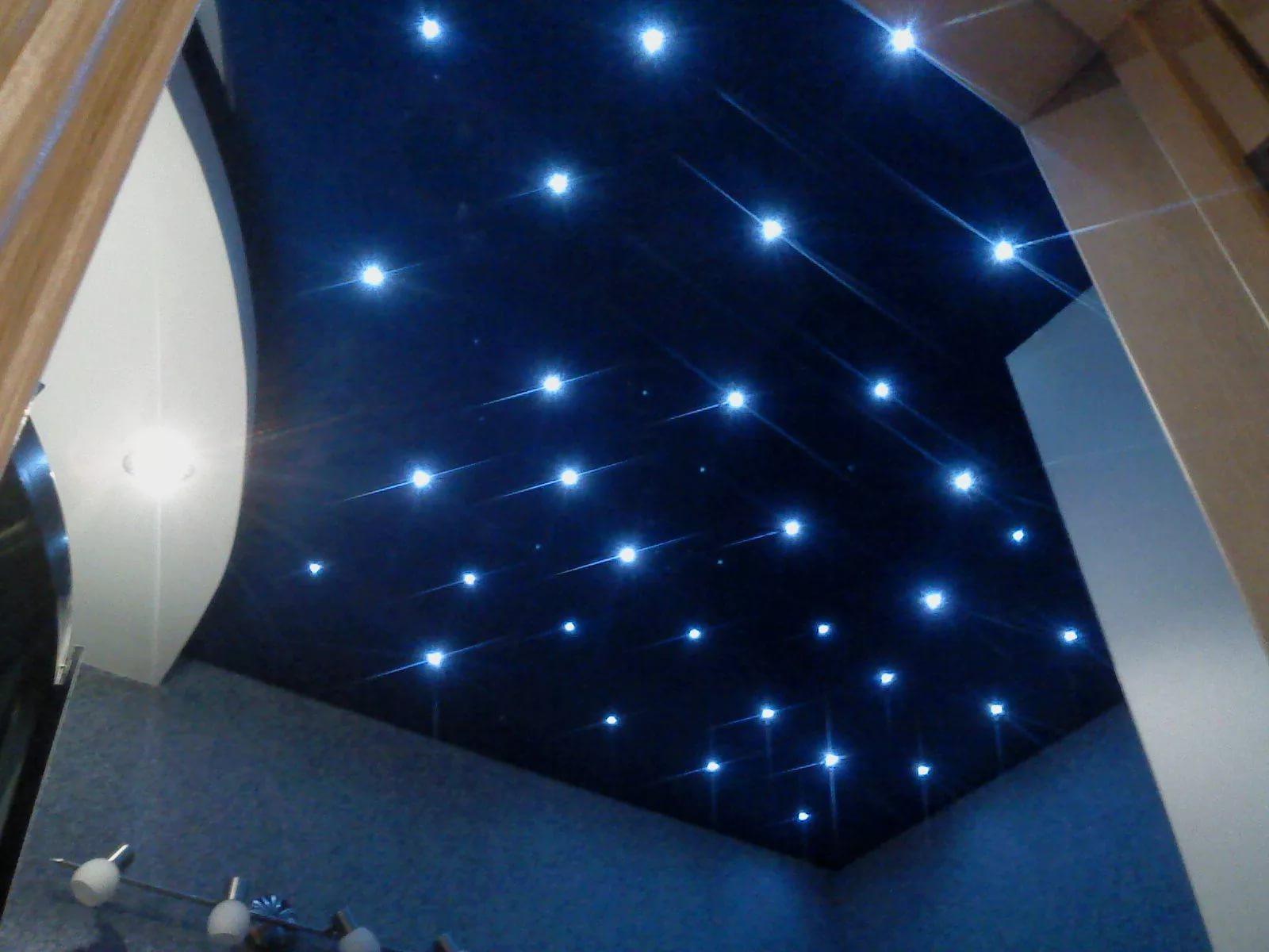 Натяжные потолки звездное небо 7
