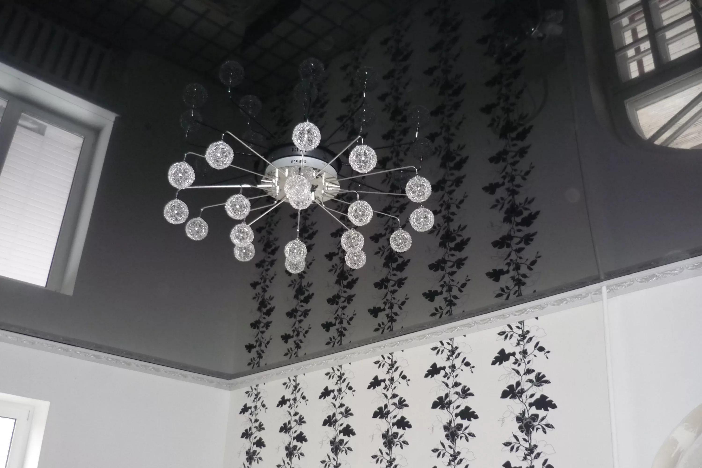 Зеркальные натяжные потолки 10