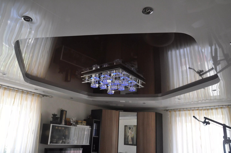 Зеркальные натяжные потолки 4