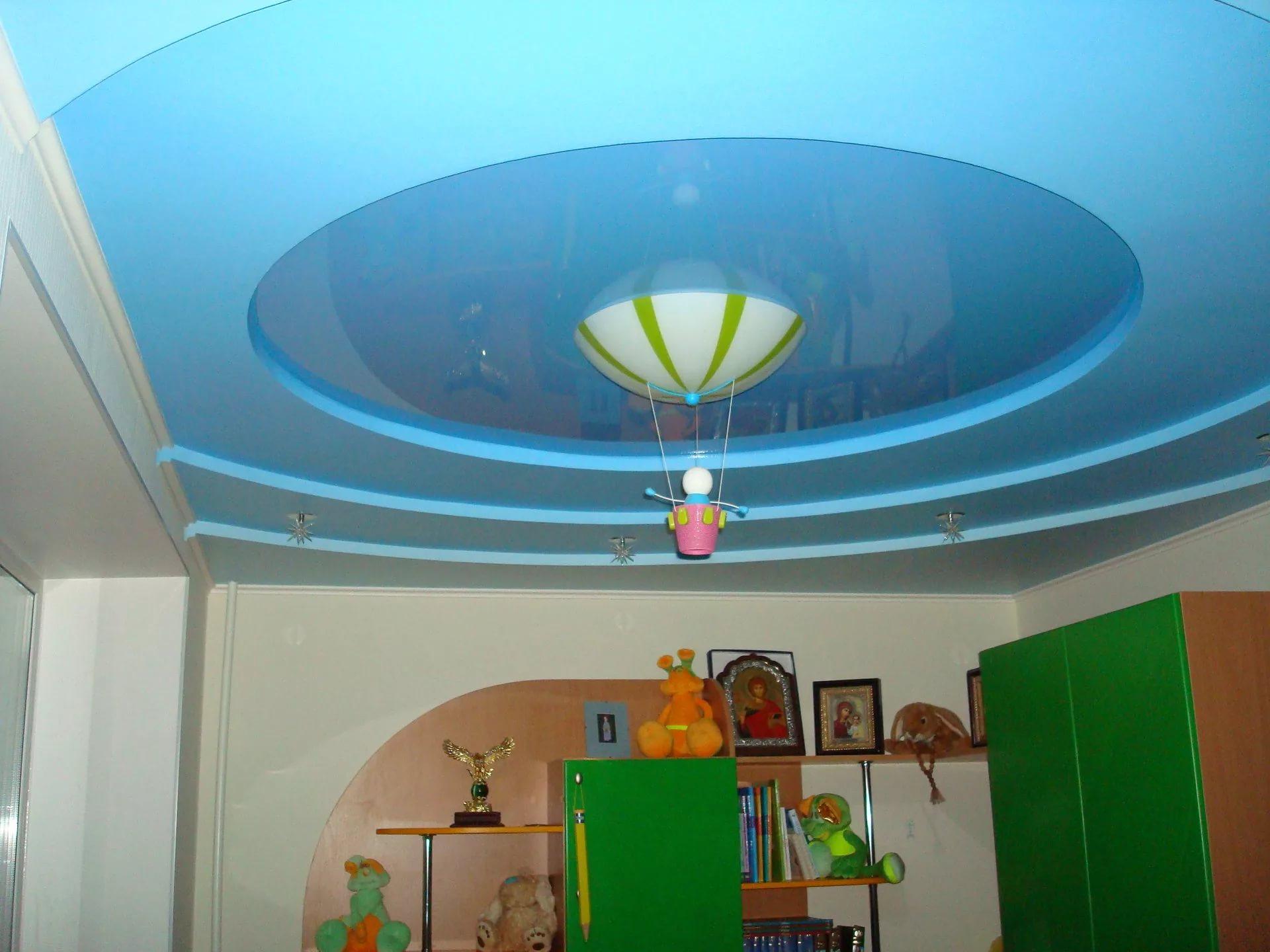 Натяжные потолки в детскую 10