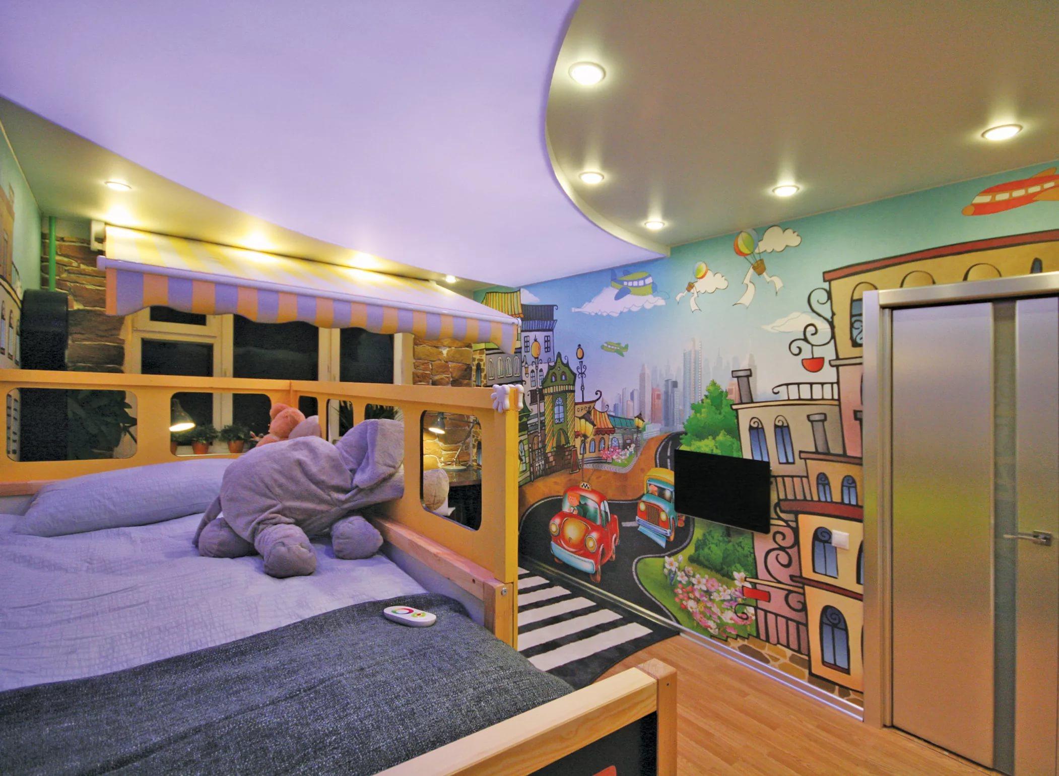 Натяжные потолки в детскую 8