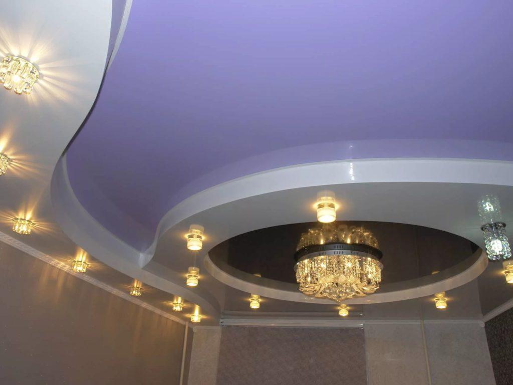 Многоуровневые натяжные потолки 1