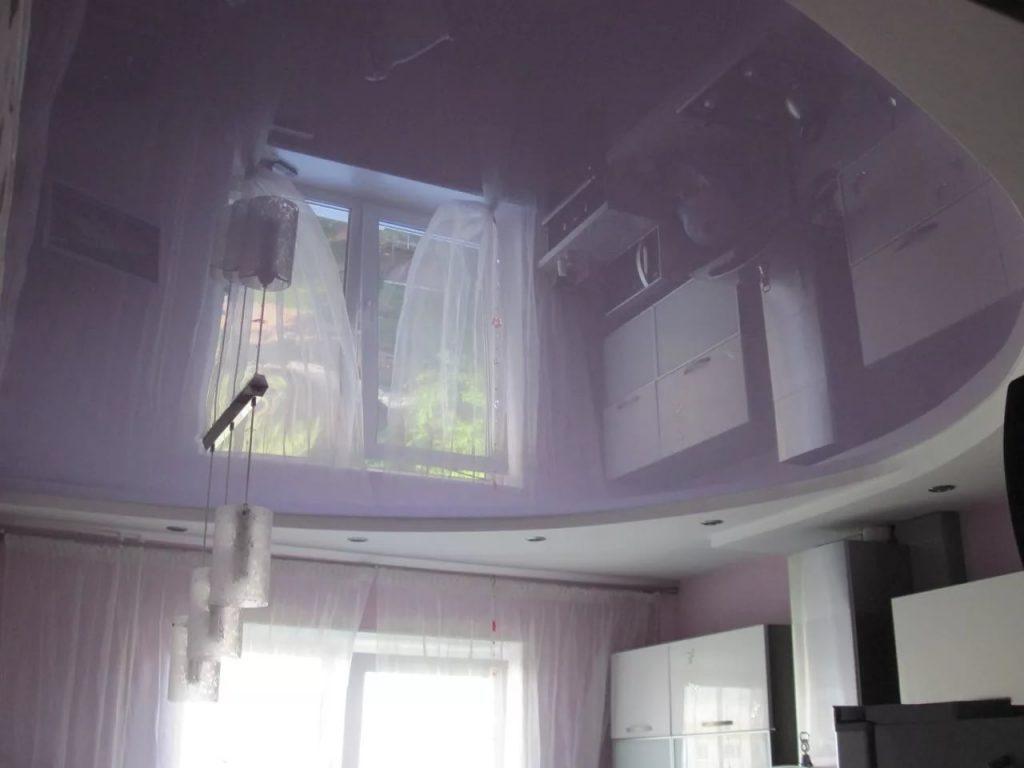 металлик натяжные потолки 10