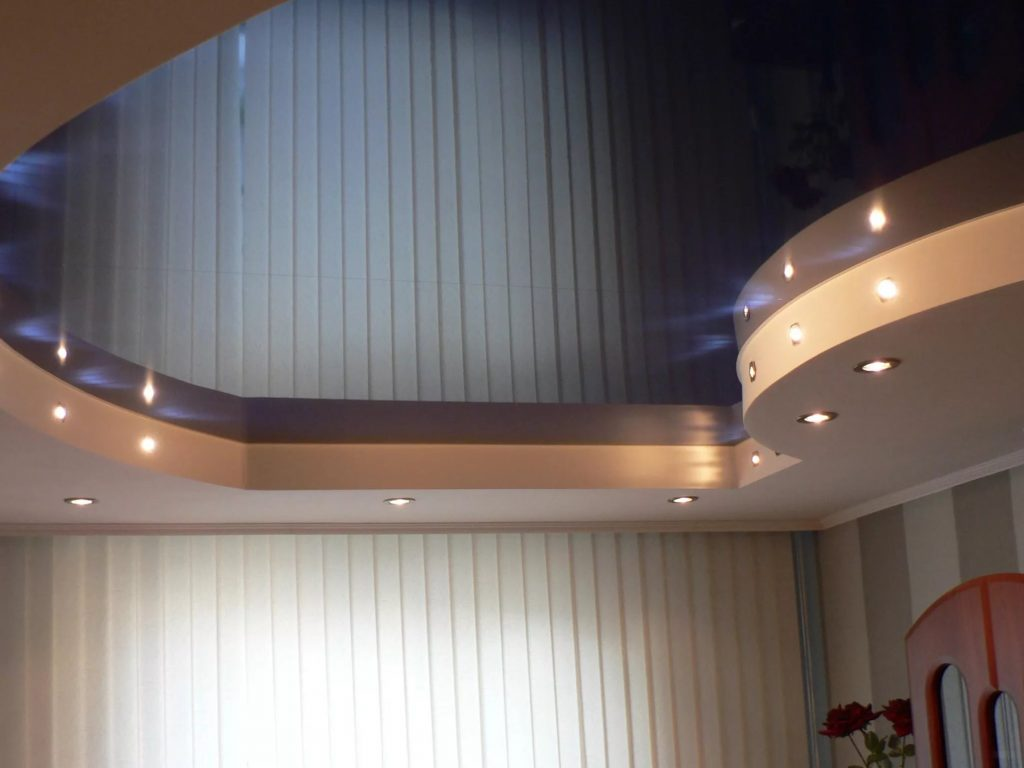 Многоуровневые натяжные потолки 10
