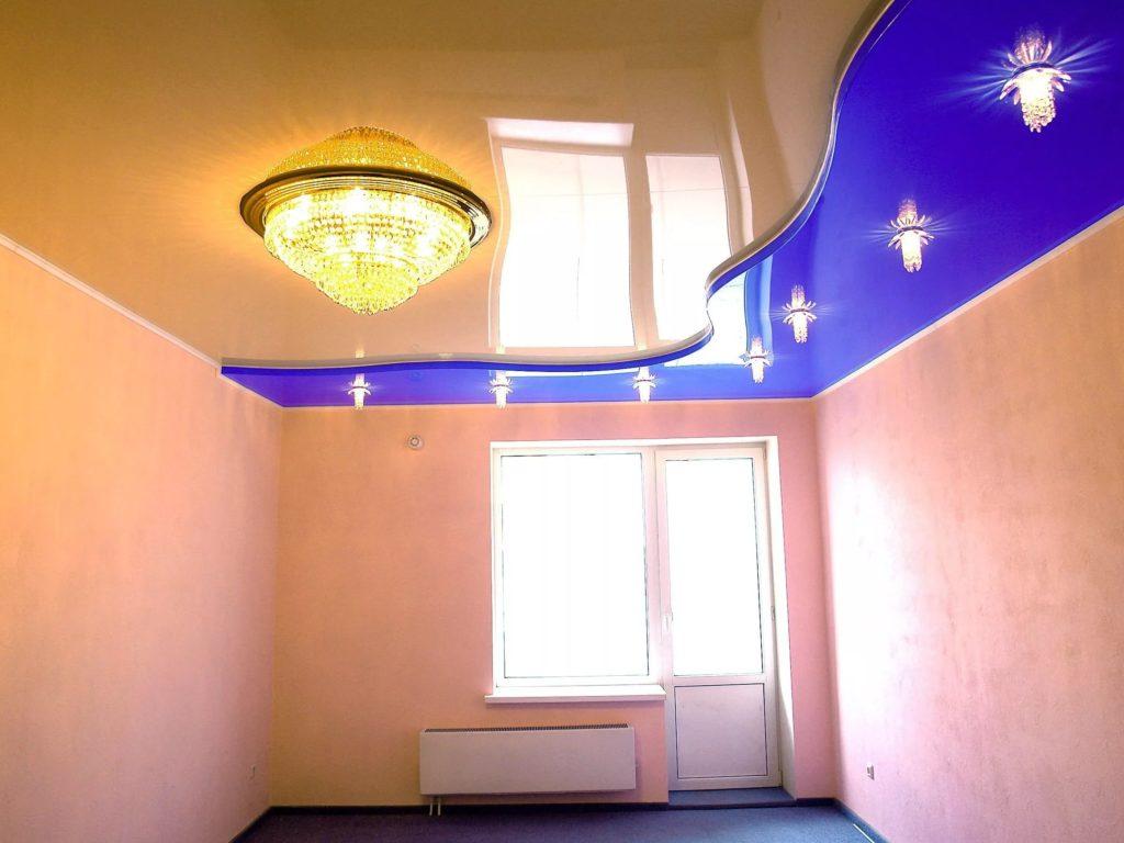 Многоуровневые натяжные потолки 11