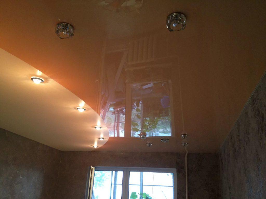 металлик натяжные потолки 12