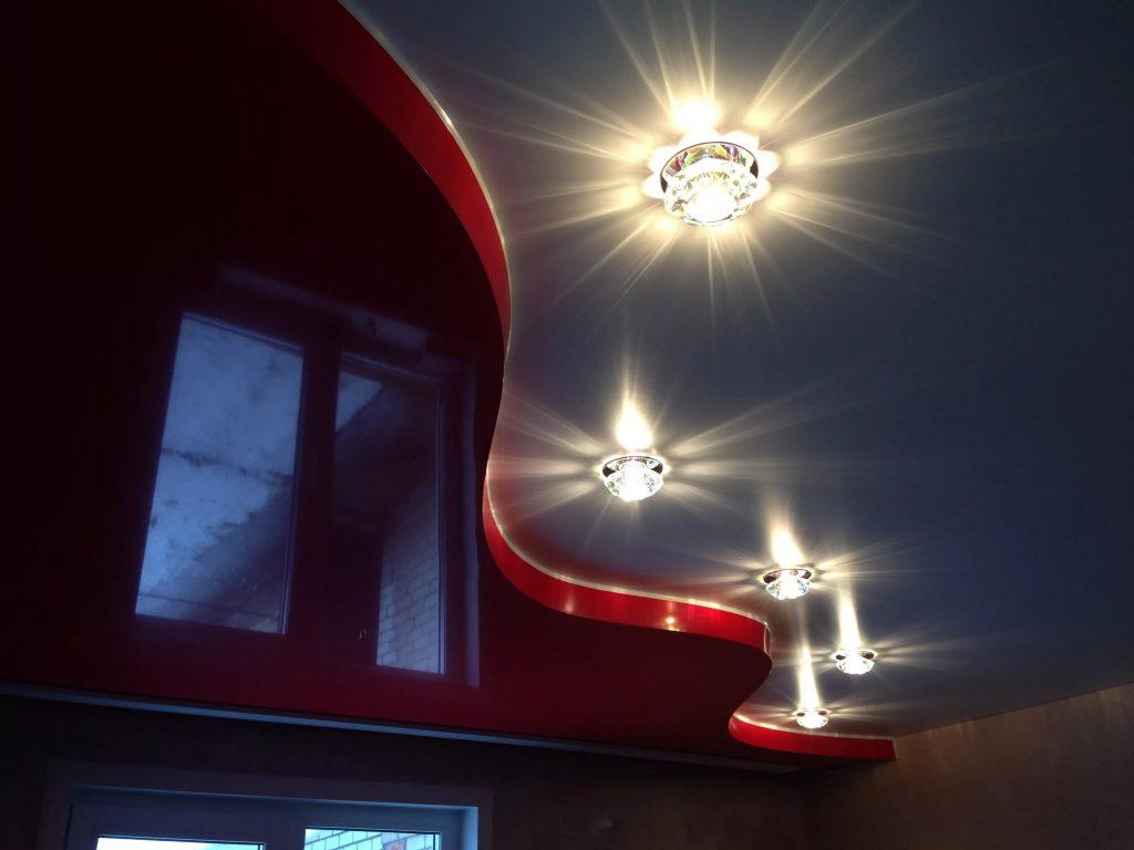 Многоуровневые натяжные потолки 13