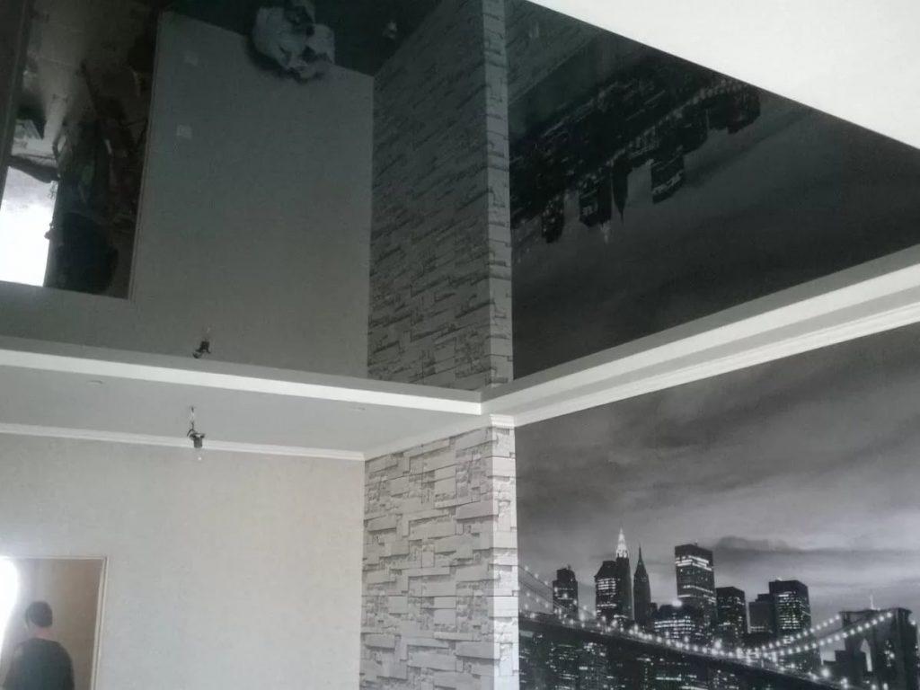 Зеркальные натяжные потолки 13