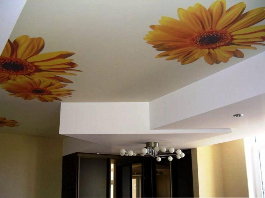 Тканевые натяжные потолки 14