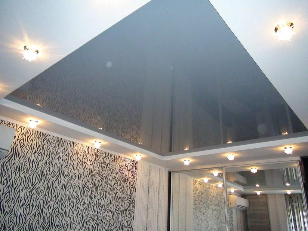 Зеркальные натяжные потолки 5