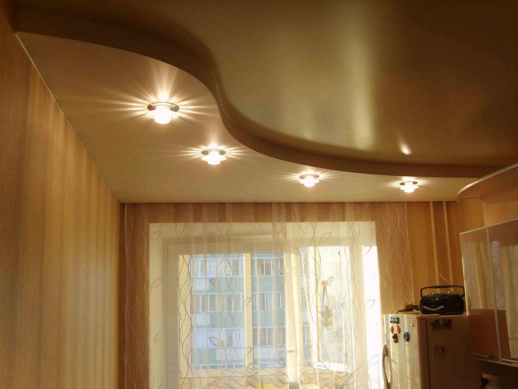 металлик натяжные потолки 6