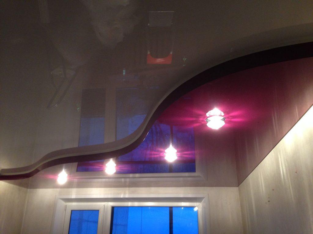 Многоуровневые натяжные потолки 6