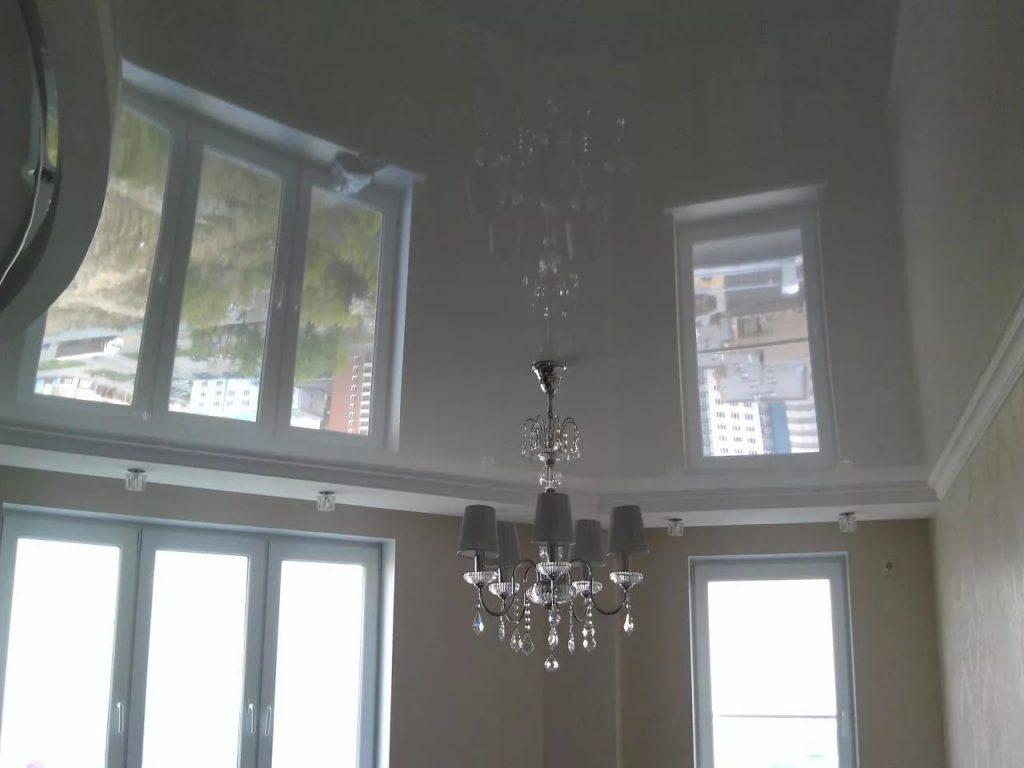 Зеркальные натяжные потолки 7