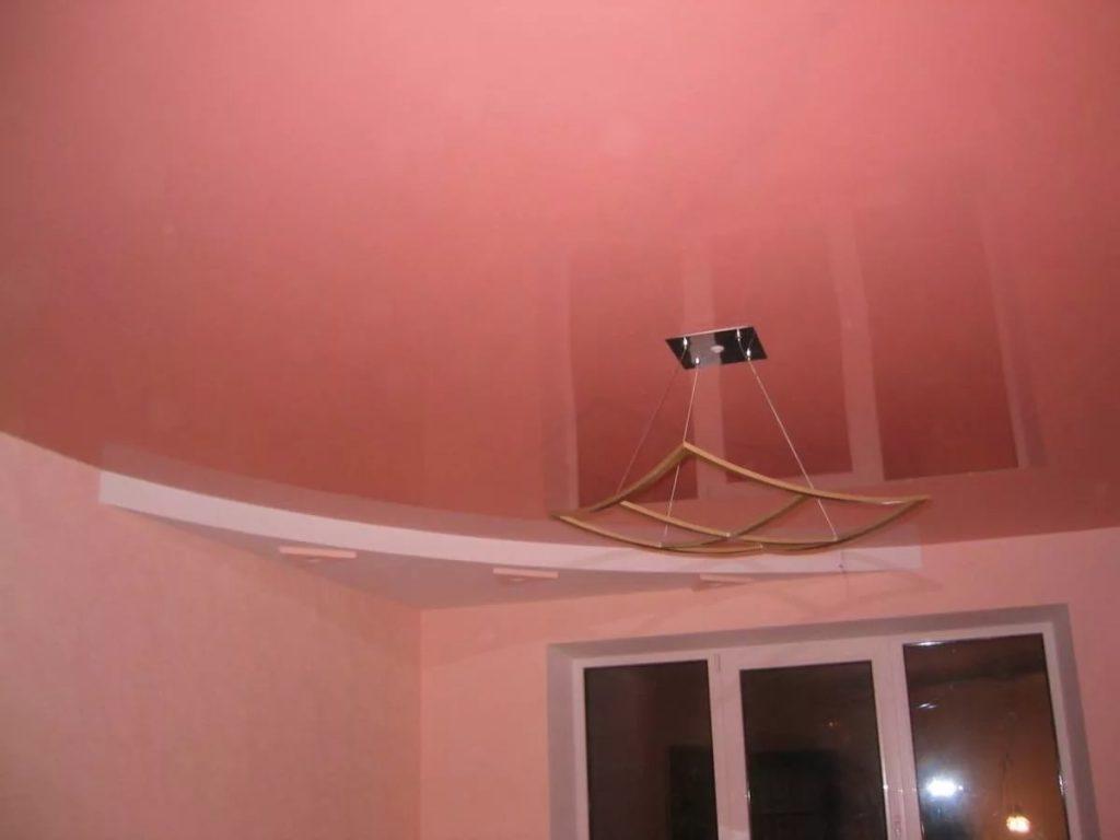 металлик натяжные потолки 8
