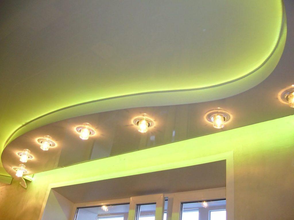 Многоуровневые натяжные потолки 8