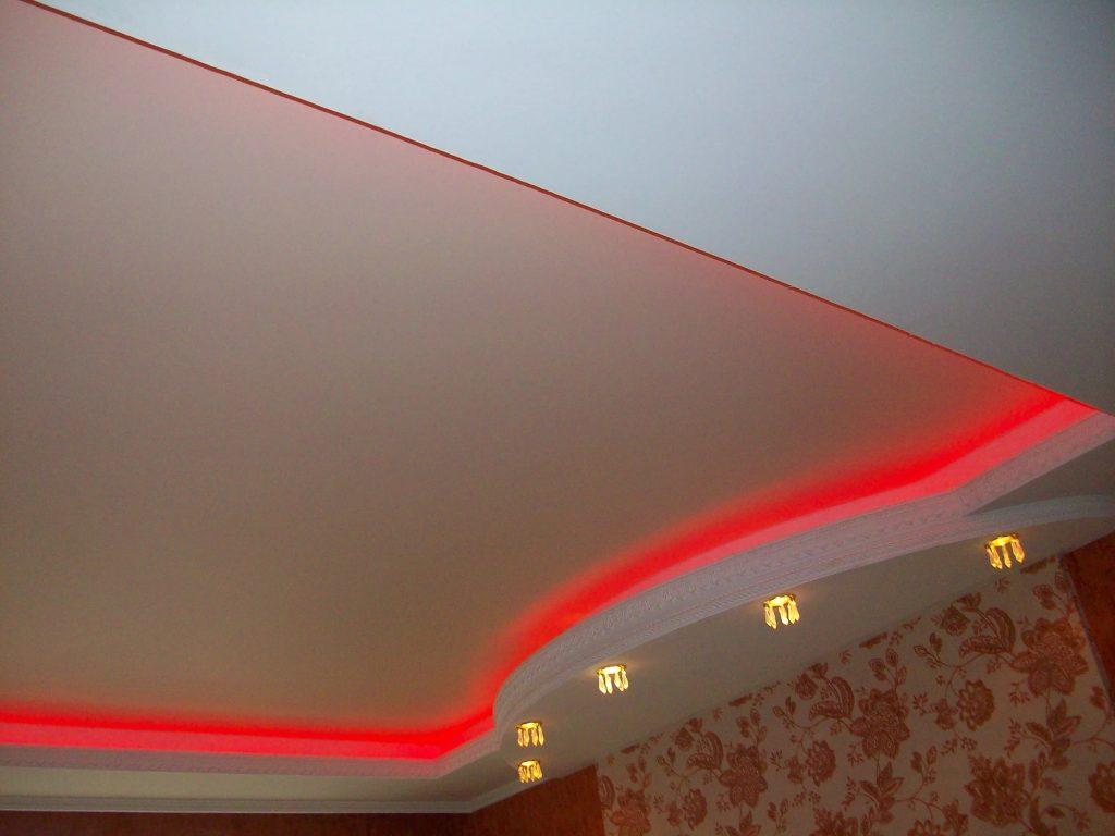 металлик натяжные потолки 9