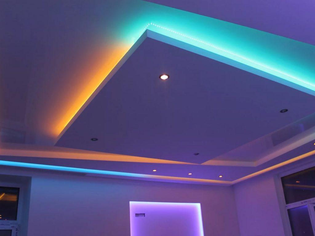 Многоуровневые натяжные потолки 9