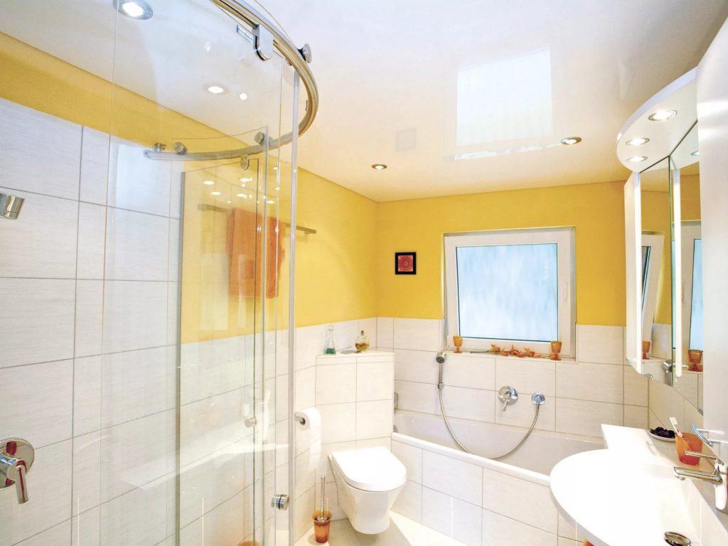 Натяжные потолки в ванную 1