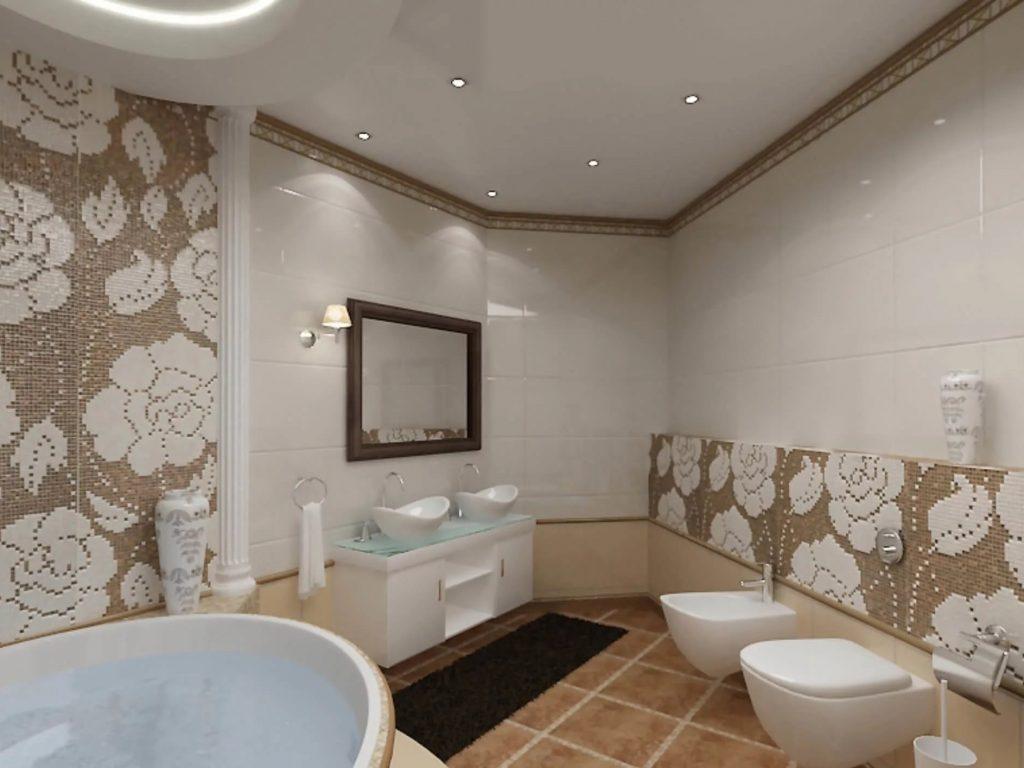 Натяжные потолки в ванную 12
