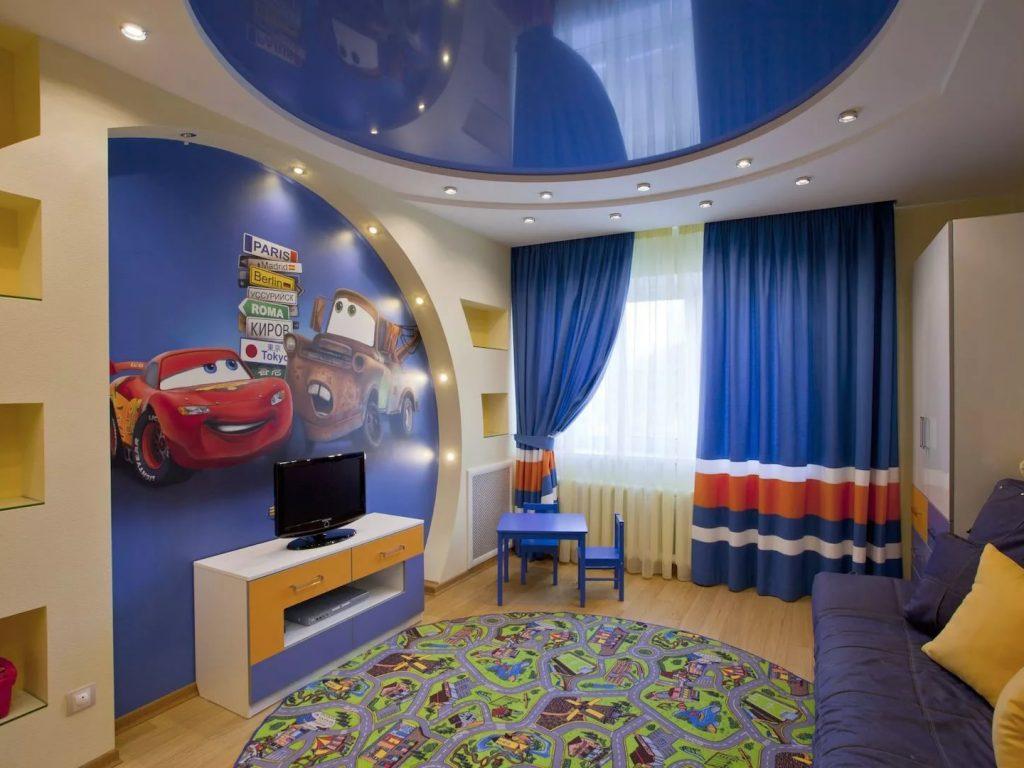 Натяжные потолки в детскую 11