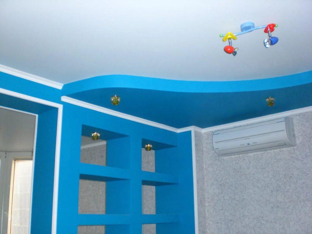 Натяжные потолки в детскую 4