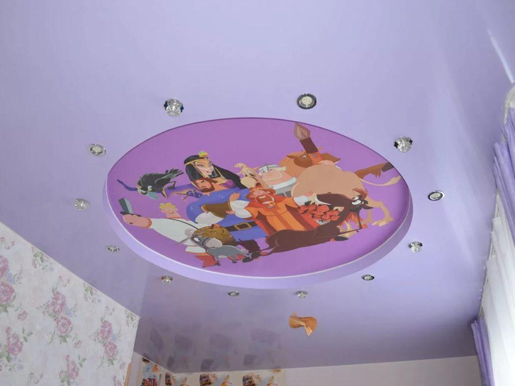 Натяжные потолки в детскую 6