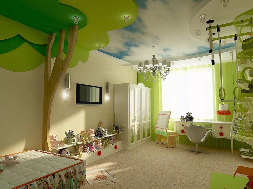 Натяжные потолки в детскую 9