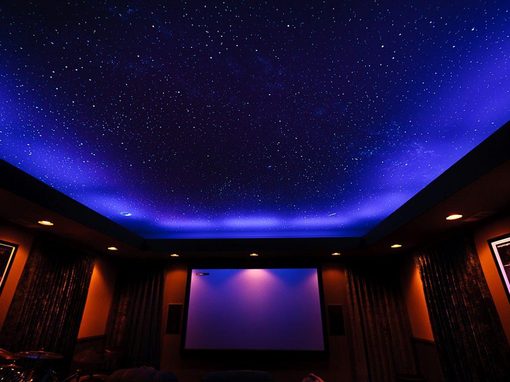 Натяжные потолки звездное небо 1