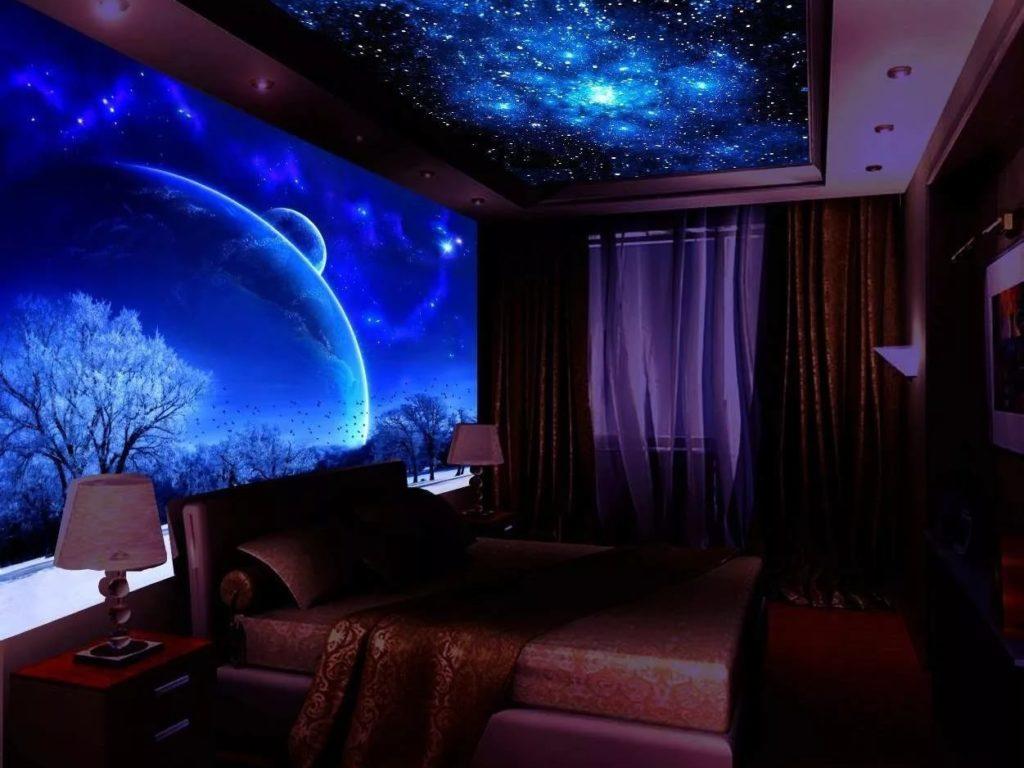 Натяжные потолки звездное небо 3