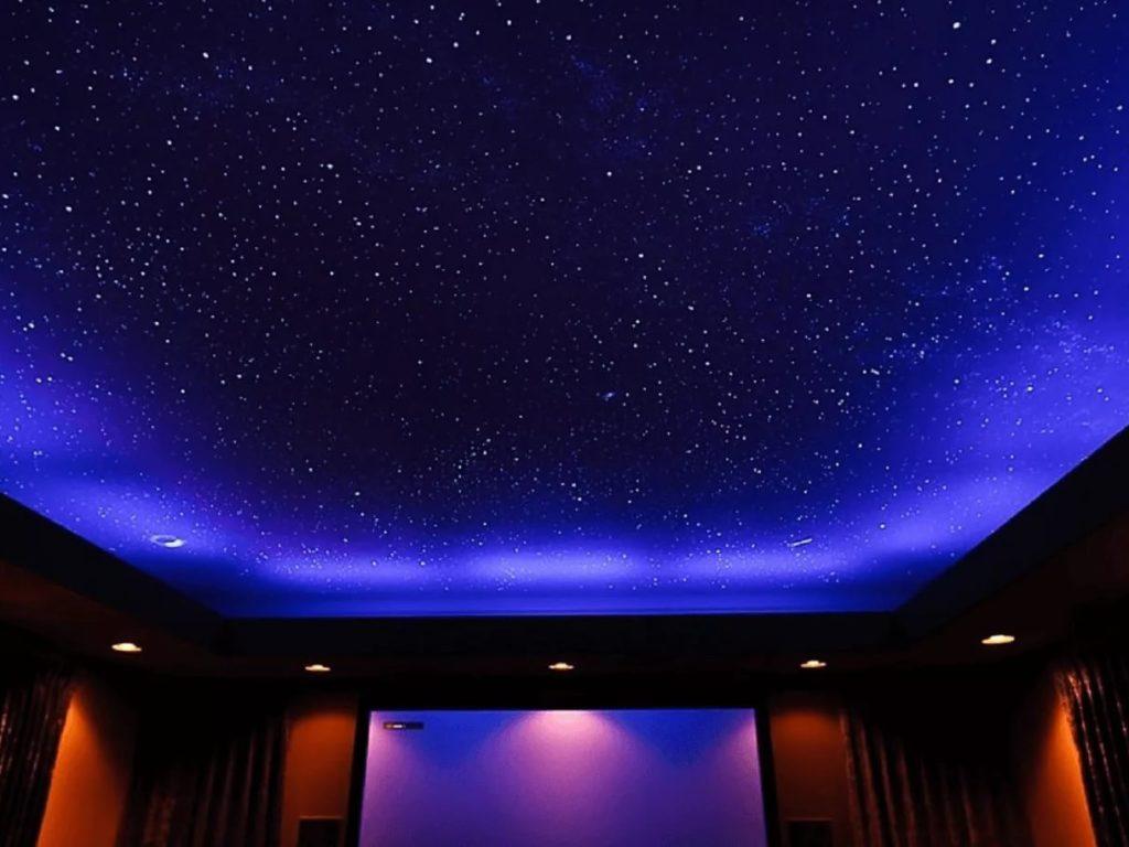 Натяжные потолки звездное небо 6