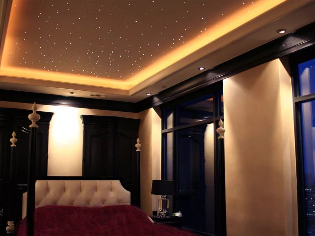Натяжные потолки звездное небо 9