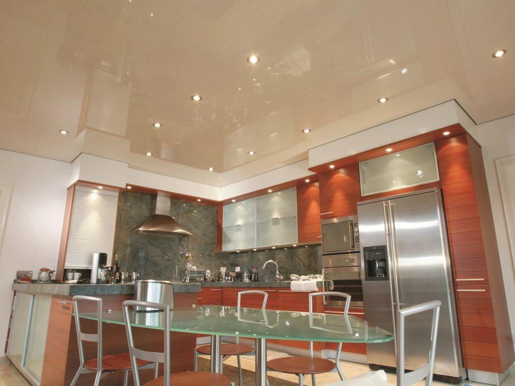Натяжные потолки на кухню 4