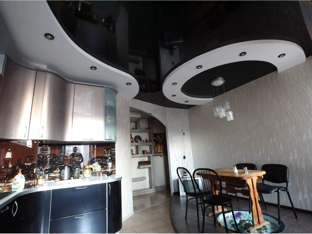 Натяжные потолки на кухню 7