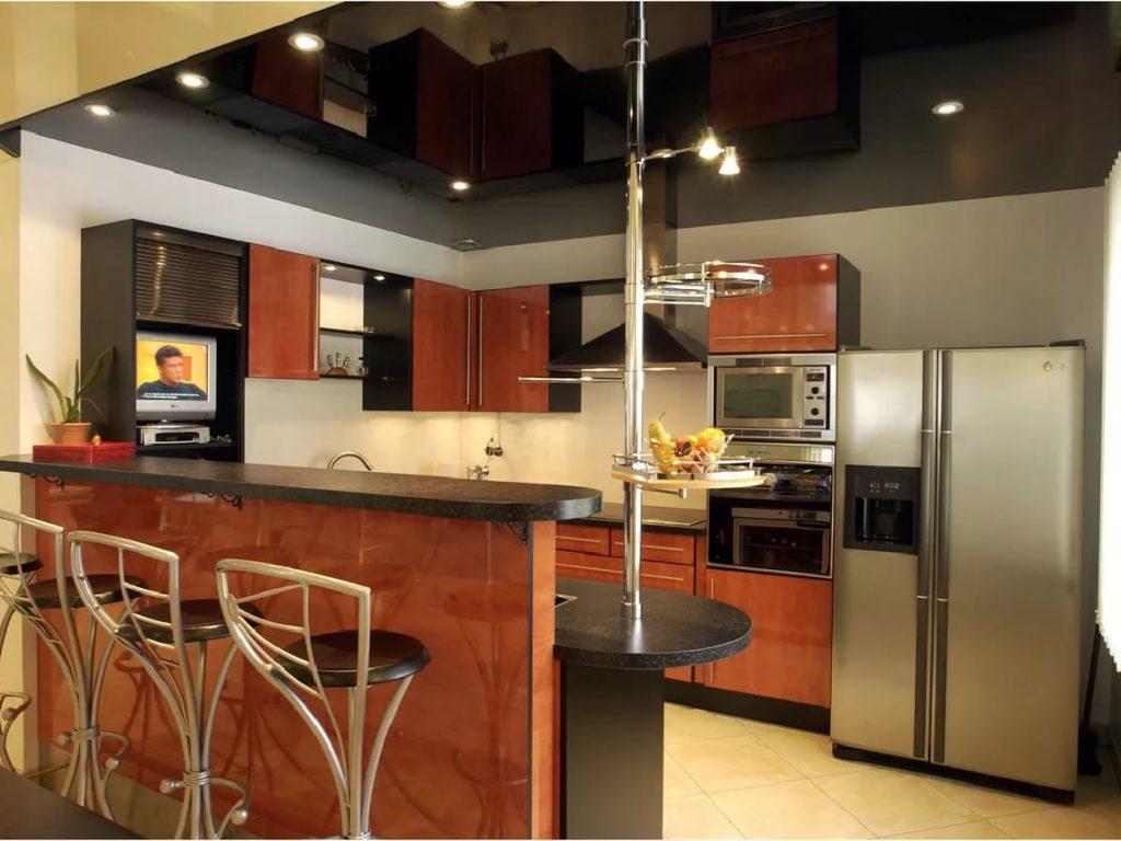 Натяжные потолки на кухню 9