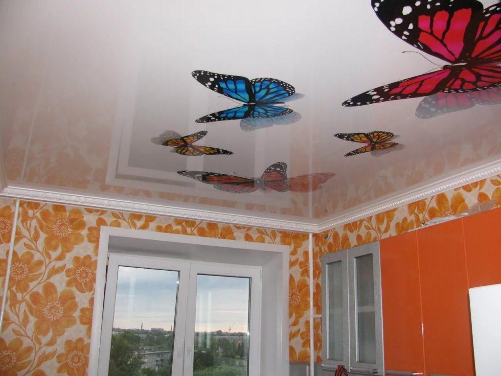 Натяжные потолки с фотопечатью 5