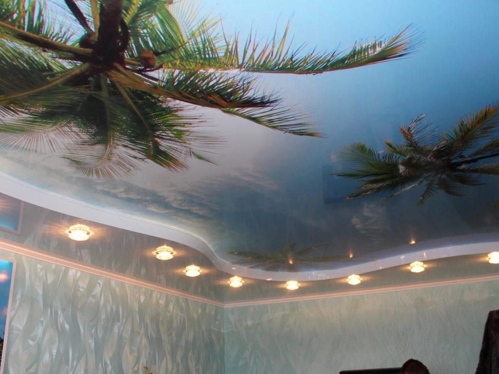 Натяжные потолки с фотопечатью 6